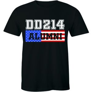 DD214 Alumni American Flag Military Men's T-shirt